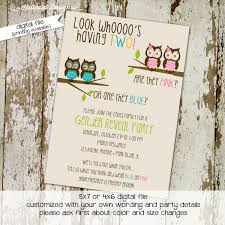 country themed baby shower invitations gender reveal invitation owl baby shower invitation twin
