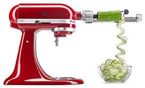 kitchenaid le livre de cuisine kitchenaid ksm1apc coupe légumes spirale de fixation avec peel