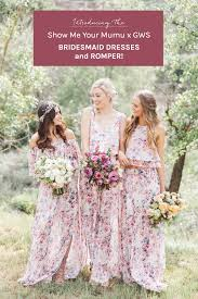 bridesmaid dresses near me show me your mumu x gws bridesmaid dresses and romper collection