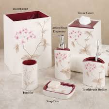 cherry blossom home decor christina red cherry blossom bath accessories by croscill