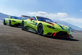 rose gold aston martin aston martin racing debuts vantage gte race car