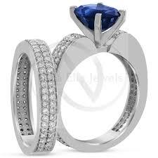 Diamond Sapphire Wedding Ring by Oval Cut Double Row Blue Sapphire U0026 Diamonds Engagement Ring
