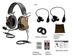 3m peltor comtac ach dual comm kit socom coyote brown 88901