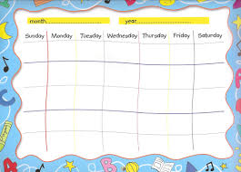 Make Your Own Map Make Your Own Calendar Weekly Calendar Template