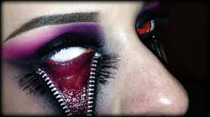 how to get in the halloween spirit easy halloween makeup unzipped eye sfx tutorial without latex