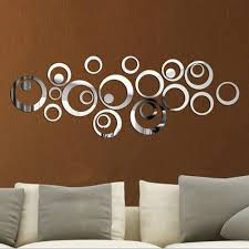 Circle Wall Decals Ideas For by Mosaic Mirror Wall Decor Porcelain Pebble Tile For Fireplace