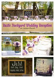 rustic backyard wedding reception ideas caption this a rustic backyard wedding reception a casarella