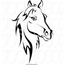 ferrari horse outline horse logos clip art 42