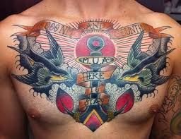 anchor chest tattoos and photo ideas page 3