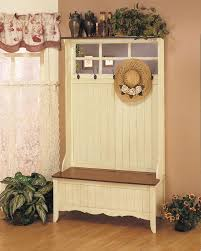 Storage Hallway Bench by Furniture White Wooden Hall Tree With Storage Bench And Mirror