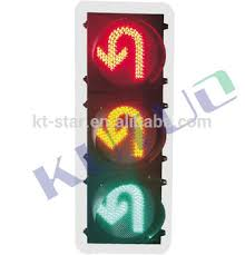led traffic signal lights 300mm or 400mm u turn led traffic light with red yellow green color