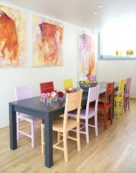 Colored Dining Room Chairs Paint Dining Room Furniture Ideas For Painting Dining Room Table