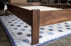 Bed Frame Legs For Hardwood Floors Buy A Custom Made Simple Queen Size Platform Bed Frame Hardwoods