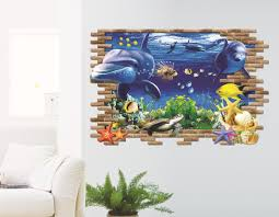 dolphin wall stickers children sitting living room sofa dolphin wall stickers children sitting living room sofa background painting creative waterproof wallpapers wide