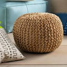 coffee tables rattan ottoman with cushion stool tray round