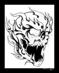 flaming skull by mailorderchild on deviantart