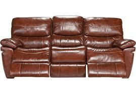 0 00 la verona chestnut leather reclining sofa contemporary