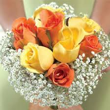 food bouquets order classic bridesmaids bouquets with yellow and orange