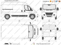 peugeot boxer the blueprints com vector drawing peugeot boxer l2h2