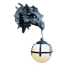 Shop Wall Sconces At Lowes by Shop Design Toscano Marshgate Castle Dragon 9 In W 1 Light Dark