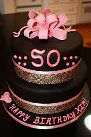 50th pink black and leopard birthday cake made this cake u2026 flickr