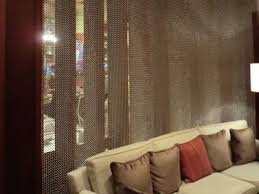 Chain Mail Curtain Chainmail Curtain As Office Room Divider And There Is A Sofa In