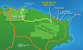 Puerto Rico On A Map by Area Attractions El Yunque Rainforest U0026 Luquillo Beach Puerto