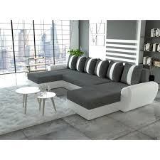canapé gris simili cuir canapé d angle en u convertible tiger gris blanc simili cuir achat