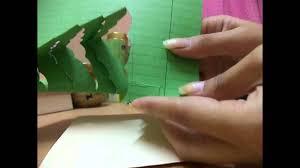 make a 3d pop up tree card