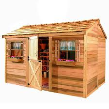 Lowes Sheds by Shop Cedarshed Common 10 Ft X 8 Ft Interior Dimensions 9 62 Ft