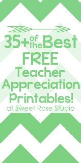35 of the best free teacher appreciation printables