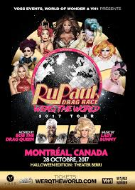 rupaul u0027s drag race werq the world tour montreal voss events