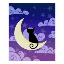 black cat moon posters zazzle