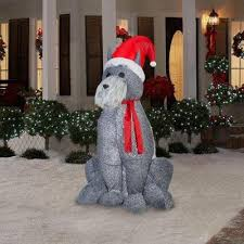Christmas Outdoor Decorations Dog by Christmas Puppy Dog Inflatables Christmas Wikii