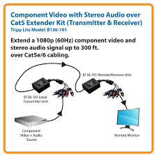 amazon com tripp lite component video with stereo audio over cat5