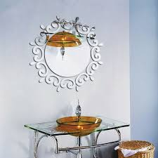 kdeam mirror wall art sticker home bathroom living room decoration d