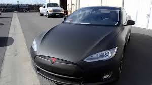 tesla model s matte black full wrap rolotech car wraps youtube