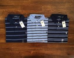light blue striped polo dress ralph lauren polo mens custom fit pony logo striped shirt light blue