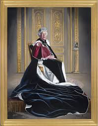 robe mariã e chetre striking portrait of the clad in garter robes is