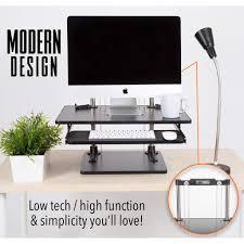 uptrak metro standing desk converter u0026 bonus keyboard tray stand
