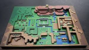 Metroid Nes Map Classic Nes Games In 3d Paper Dioramas Make