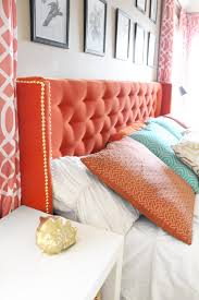 How To Make A Tufted Headboard Inspiring My Diy Tufted Headboard With Antique Mirror Framemade