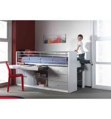 bureau coulissant enfant combiné avec bureau coulissant byblo coloris gris et blanc