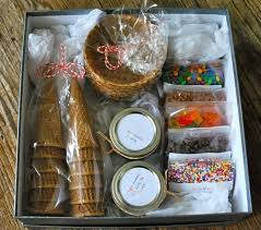Food Gift Ideas Ice Cream Sundae Kit Diy Food Gifts Food Gifts And Waffle Bowl