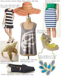 Nautical Theme Fashion - cute but a jean vest instead of the cardigan i love