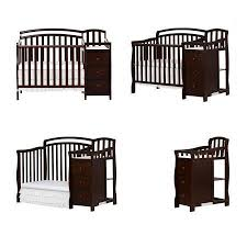 Convertible Crib And Changer Combo Infant Baby 4 In 1 Convertible Crib To Toddler Bed With