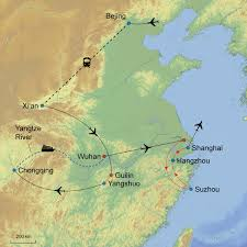 Xi An China Map by The Best Of China U0026 Yangtze River Cruise U2013 17 Days Denure Tours