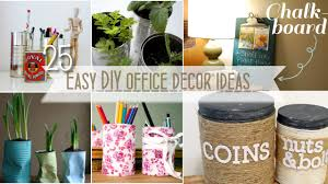 Office Wall Decorating Ideas For Work by Easy Diy Office Decor Youtube