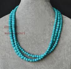 bridesmaid statement necklaces turquoise necklace strand turquoise bead necklace wedding