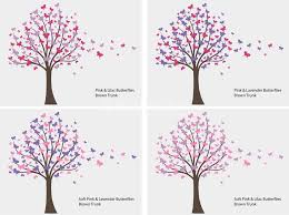 butterfly tree trailing butterflies wall decals stickers